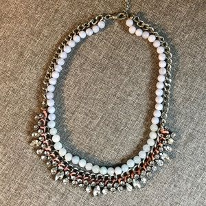 Bead and rhinestone necklace